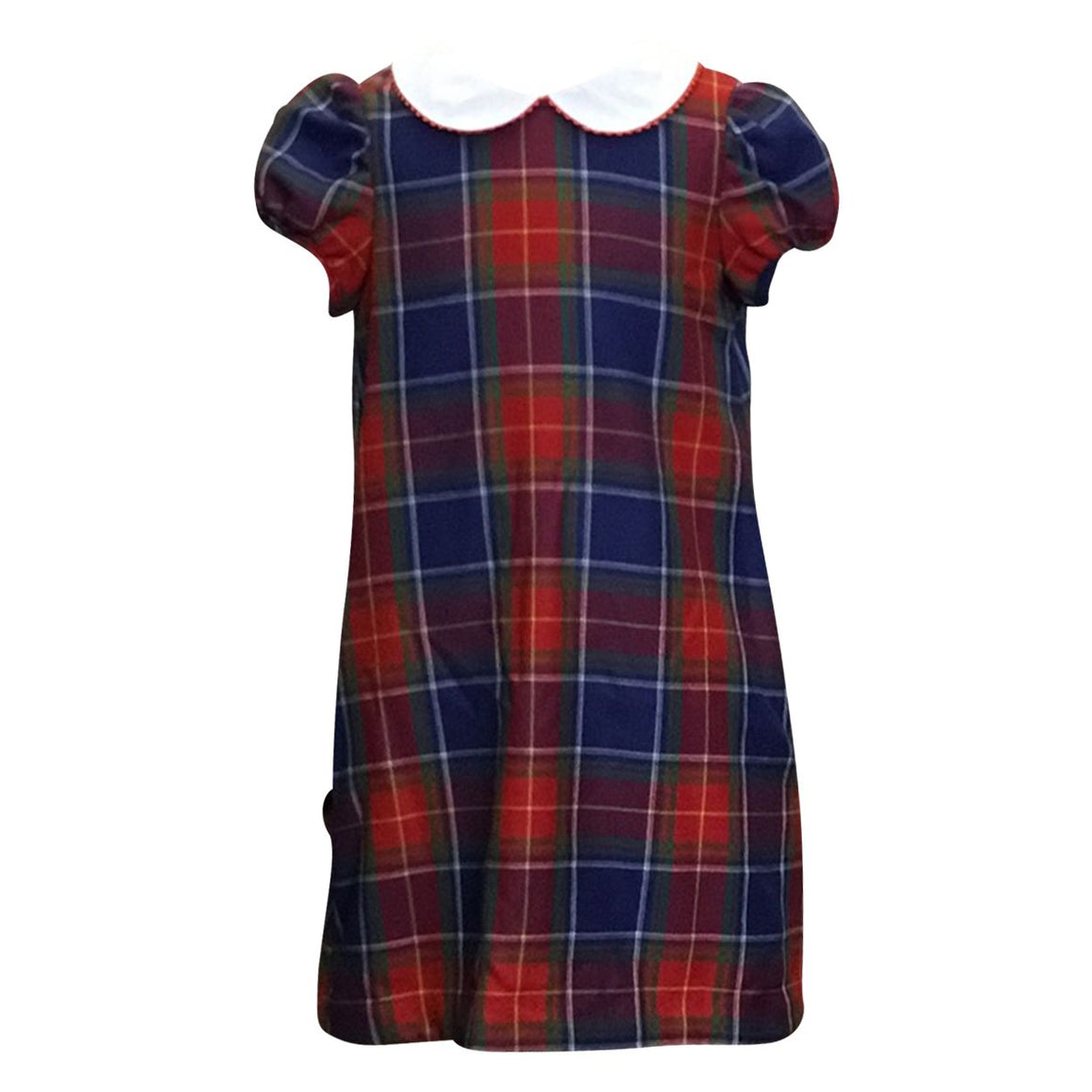 Scottish Plaid Dress with Peter Pan Collar