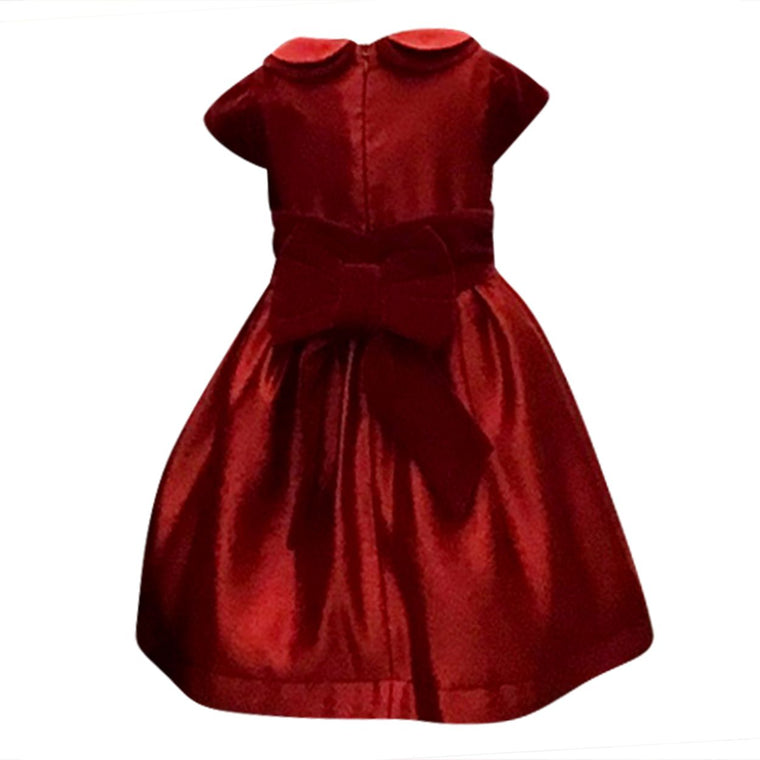 Red Satin & Velvet Dress