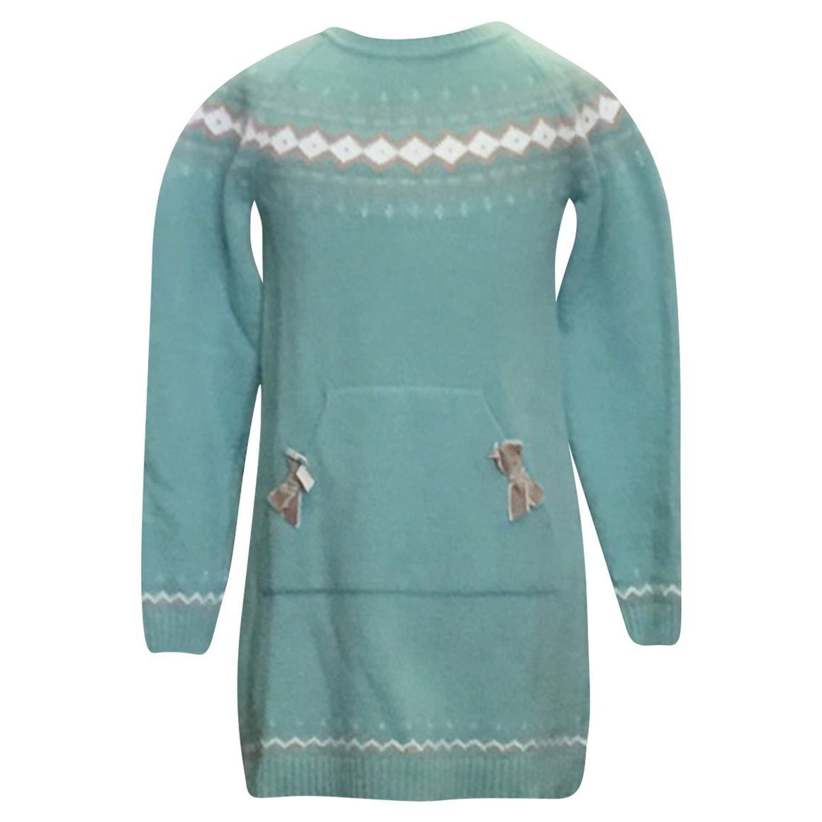 Adrian East online Mint Fairaisle Knit Dress