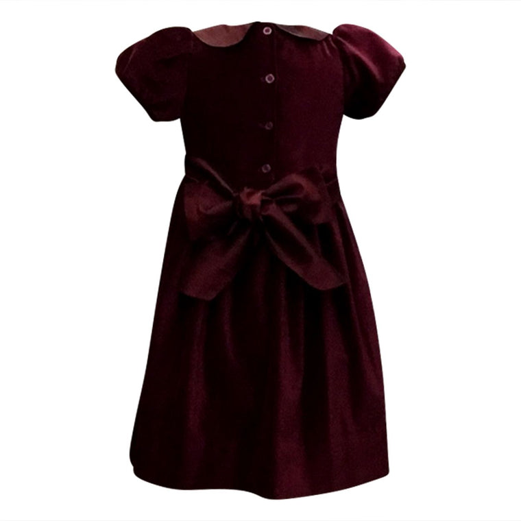 Rich Burgundy Velvet Classic Dress