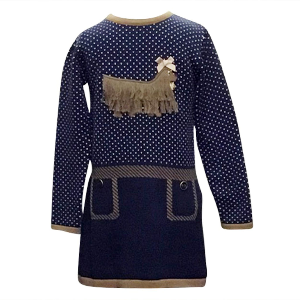 Navy Afghan Doggie Dress