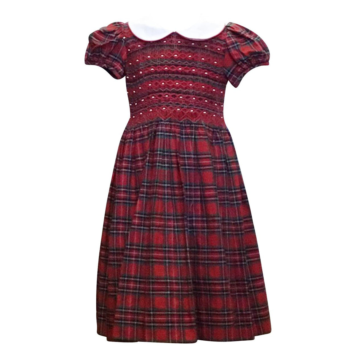Smocked Holiday Plaid Dress