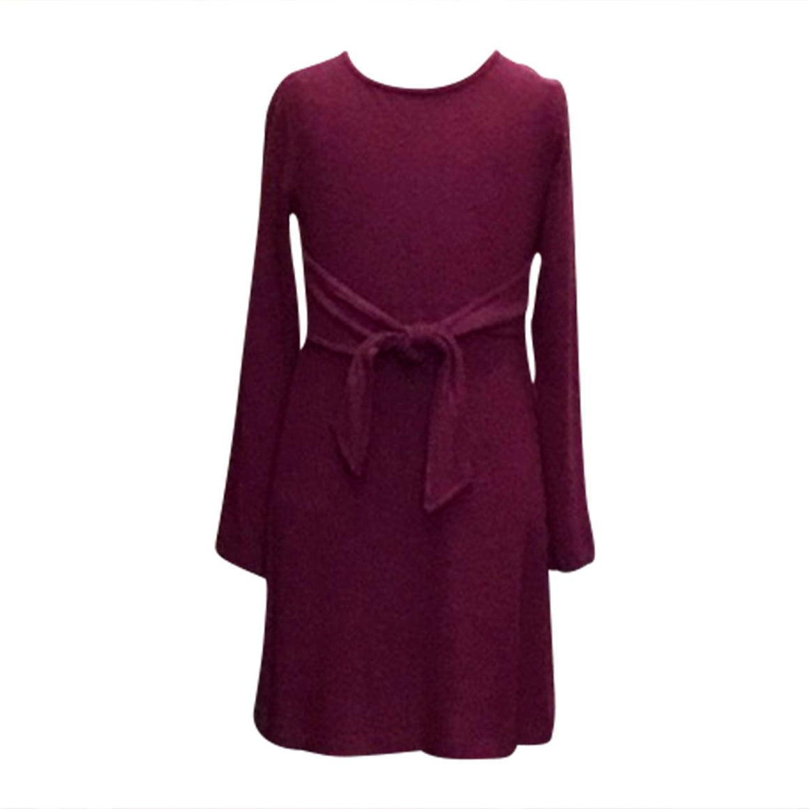 Soft Knit Flare Dress with Front Tie