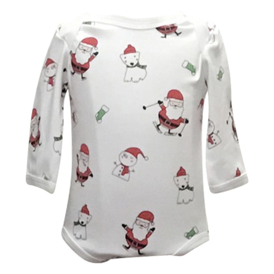 Cotton Christmas-Themed Onesie
