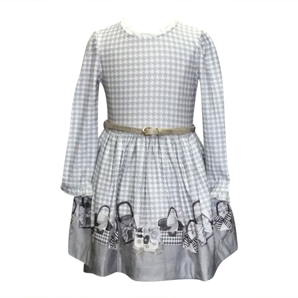 Grey Gingham Purse Dress