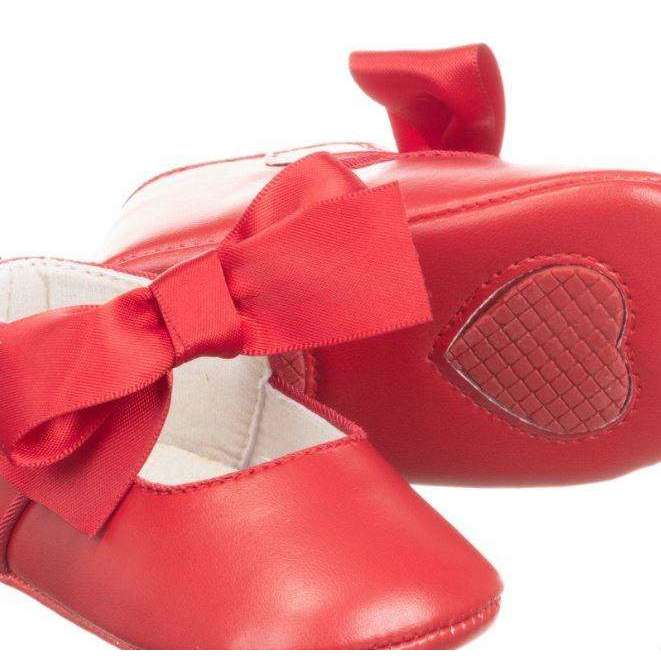Adrian East online Red Mary Janes with Bow Accent