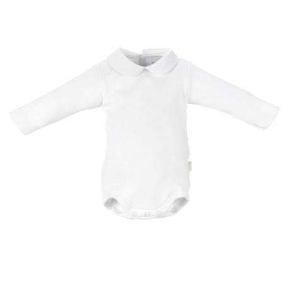 Adrian East online Peter Pan Collar Body Suit Ivory or White