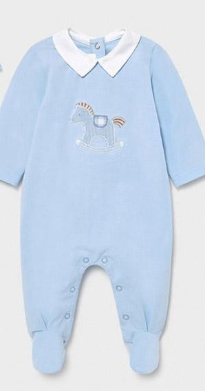 Soft Blue  horse footie