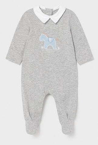 Soft gray  horse footie