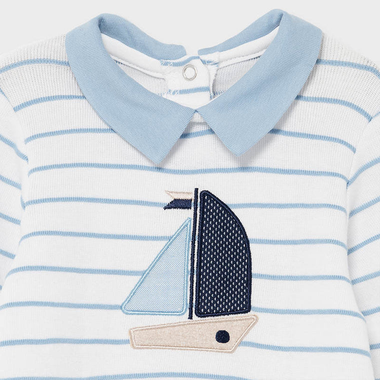 Striped boat footie