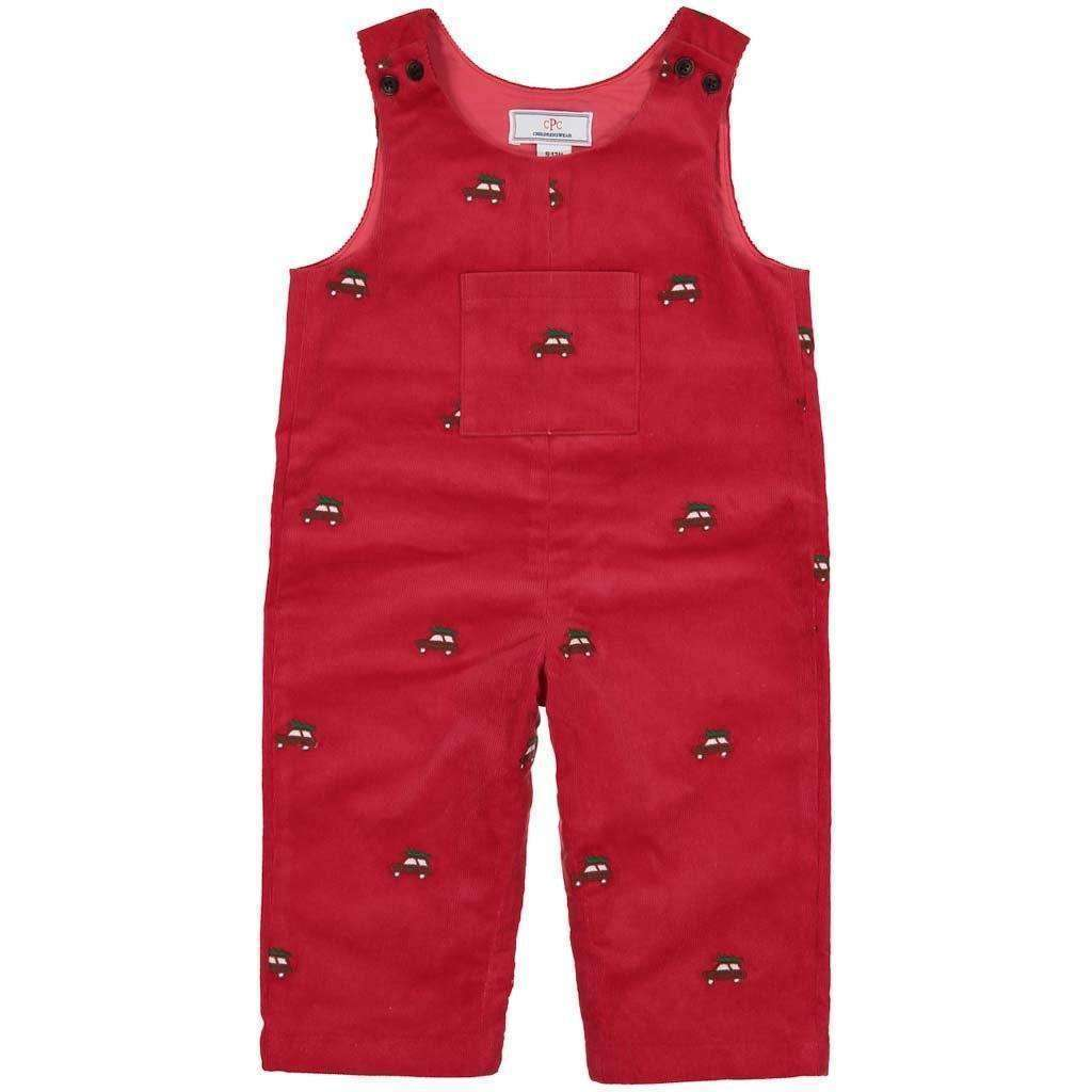 Adrian East online Embroidered Red Corduroy Overall