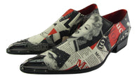 New Rossellini Marilyn  Mens Leather Lined  Pointed Shoes Multicolor News Rock