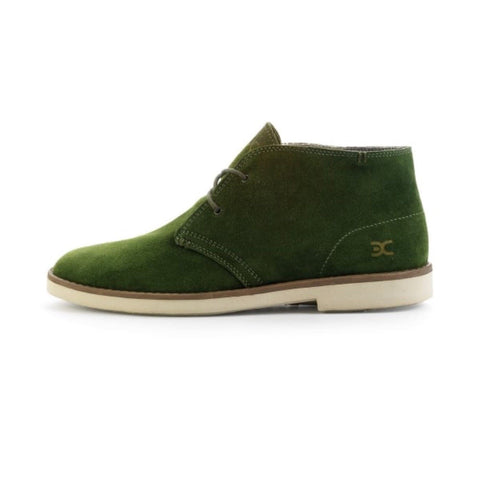 Hey Dude Torino 2 Eye Men Boots Desert Green Suede Winter  Boots White Sole - BOOTSANDLEATHER