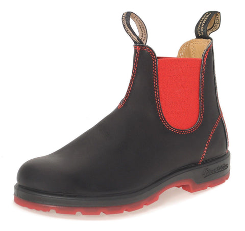 Blundstone 1316 Rare Heritage Black Red Leather Classic Chelsea Boots Australia - BOOTSANDLEATHER