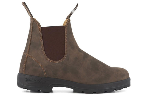 Blundstone 585 Rustic Brown Premium Leather Classic Chelsea Boots Australia - BOOTSANDLEATHER