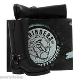 Grinders New Renegade High Biker Black Leather Boots Bike - BOOTSANDLEATHER