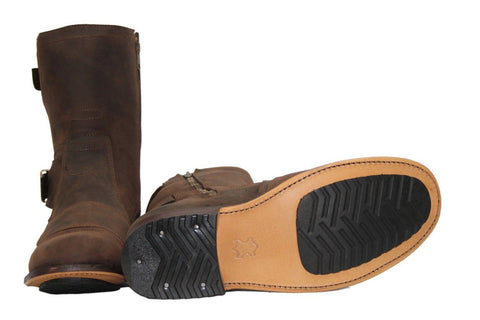 Grinders 5009 Route 66 Brown Leather Boots  Biker Boot - BOOTSANDLEATHER