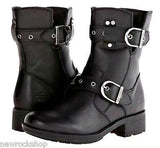Harley Davidson New Ladies Grace Motorbike Black Ladies Leather Biker Boots - BOOTSANDLEATHER