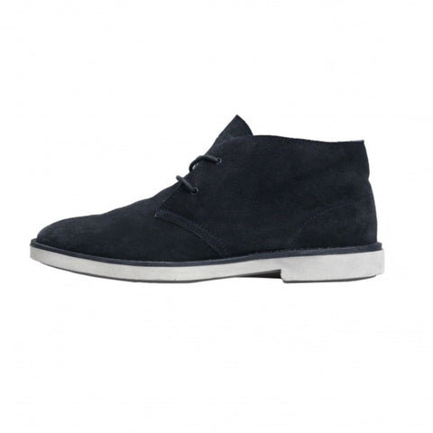 Hey Dude Torino 2 Eye Men Boots Desert Blue Navy Suede Winter  Boots White Sole - BOOTSANDLEATHER