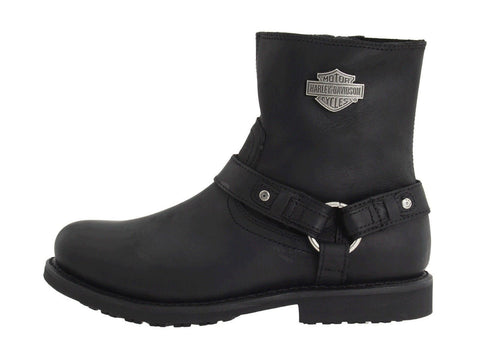 Harley Davidson Scout Black Leather Men Boots Motor Bike Riding Bike - BOOTSANDLEATHER