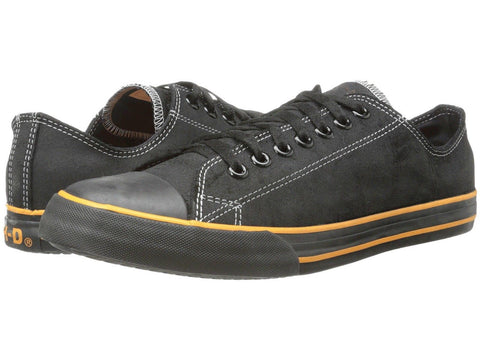 Harley Davidson Men Shoes Sneaker Roarke Black Leather Casual - BOOTSANDLEATHER