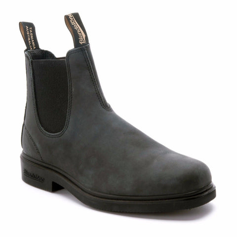 Blundstone 1308 Rustic Black Premium Leather Classic Chelsea Boots Australia - BOOTSANDLEATHER