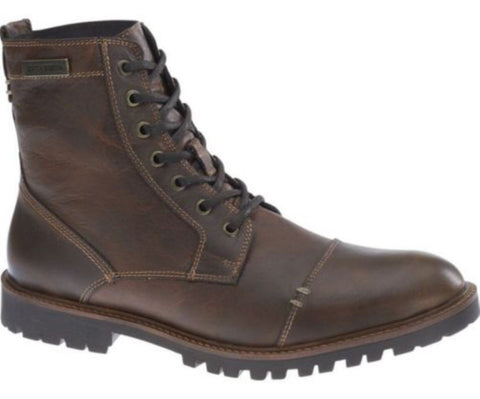 Harley Davidson  New Aldrich Brown Leather Biker  Boots  Rocks - BOOTSANDLEATHER