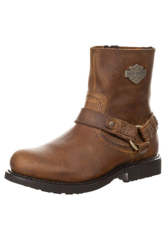 Harley Davidson Scout Brown Leather Men Boots Motor Bike Riding Bike - BOOTSANDLEATHER