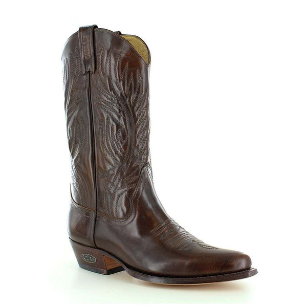 Loblan 194 Brown Whisky Leather Cowboy Boots Hand Made Classic Men'S Western