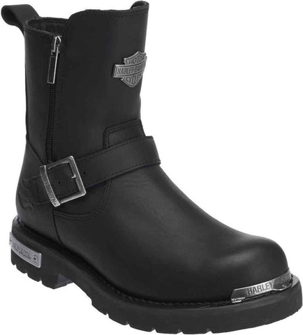 Harley Davidson Startex Black Leather Men Boots Motor Bike Riding Trail Biker - BOOTSANDLEATHER