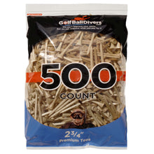 "500-pack of 2 3/4"" Wood Tees-Natural"