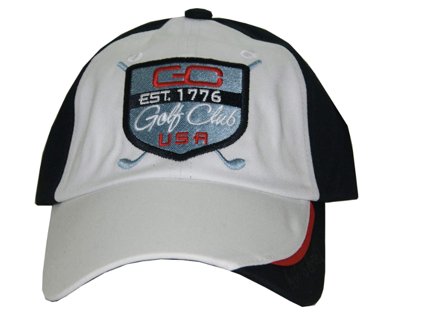 Intech Cap America Golf Hat (White/Black)