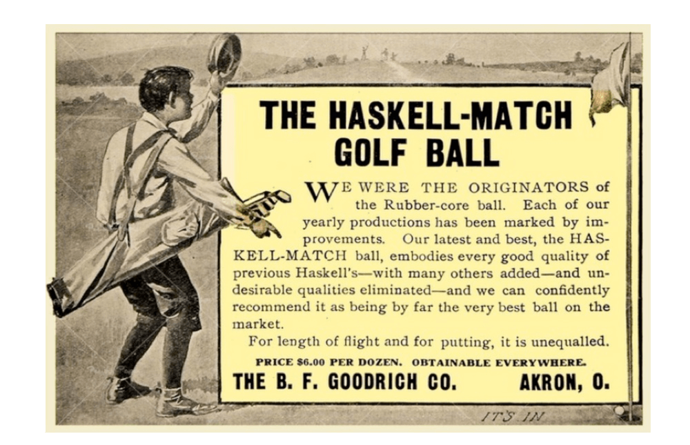 Haskell Ball Ad from a book titled: Collected Short Stories
