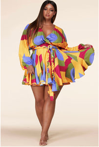 Luxor 2 Mini Dress In Plus - EnChantes Closet Plus Size Boutique