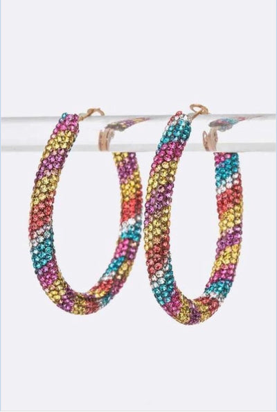 Luxe Rainbow Hoops Set - EnChantes Closet Plus Size Boutique