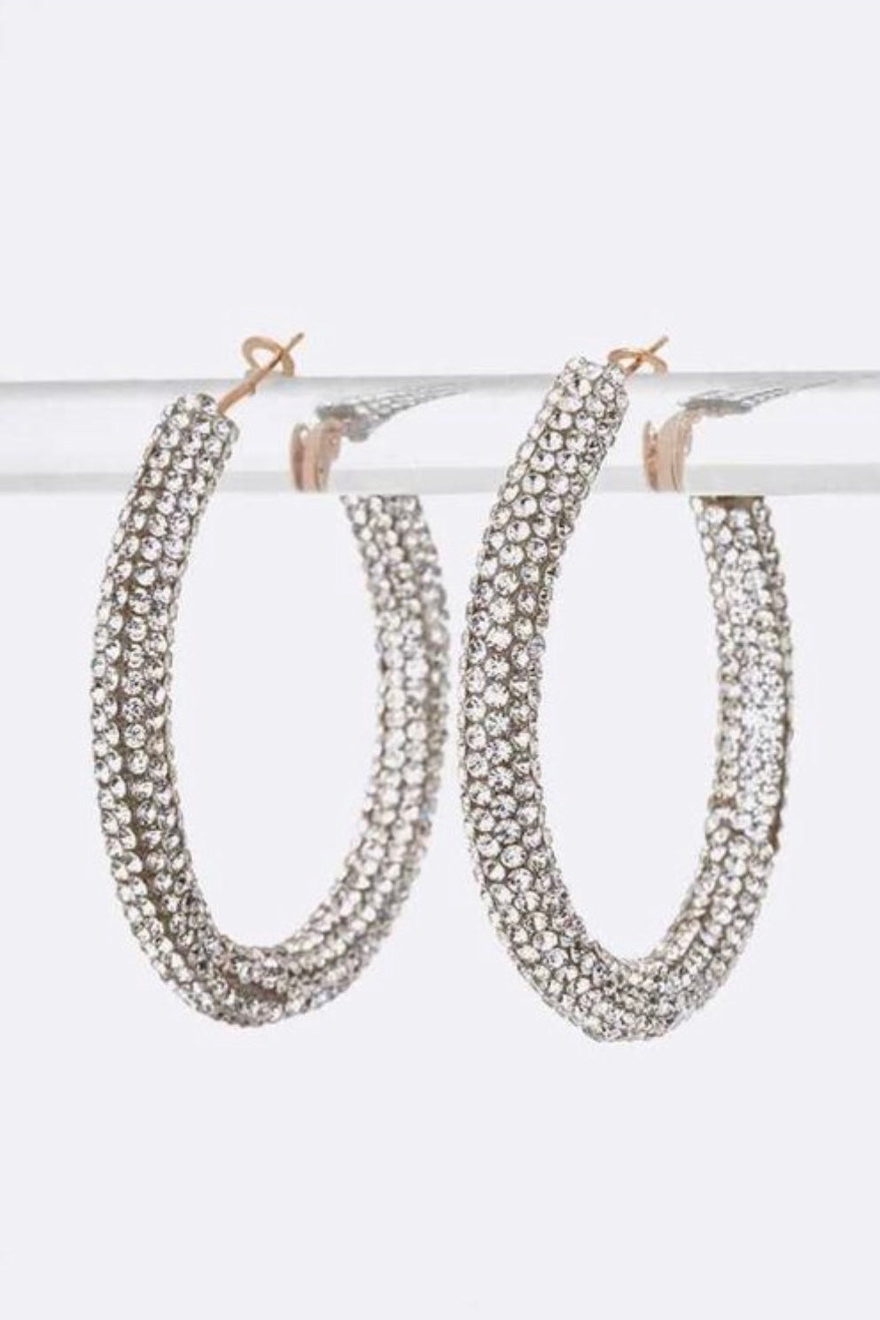 Luxe Crystal Hoop Set - EnChantes Closet Plus Size Boutique