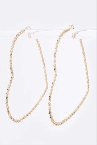 Over-Sized Chain Heart Hoop Set - EnChantes Closet Plus Size Boutique