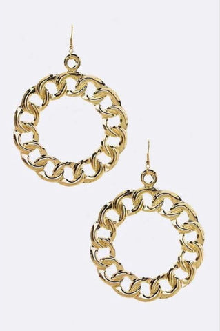 Gold Chain Hoop Earring Set - EnChantes Closet Plus Size Boutique