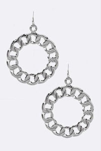 Chain Hoop Earring Set - EnChantes Closet Plus Size Boutique