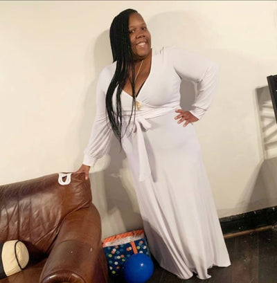 Floetry Maxi Dress In White - EnChantes Closet Plus Size Boutique