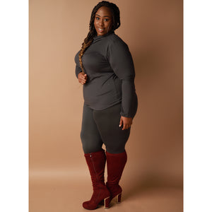 Grey Tone Pants Set - EnChantes Closet Plus Size Boutique