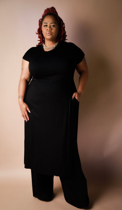 Envy Pants Set In (Black) - EnChantes Closet Plus Size Boutique