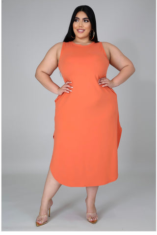 Tea Shirt Dress In Copper - EnChantes Closet Plus Size Boutique