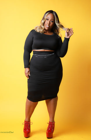 Midnight Skirt Set - EnChantes Closet Plus Size Boutique