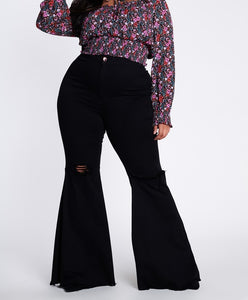Eclipse Bell Bottom Jeans - EnChantes Closet Plus Size Boutique
