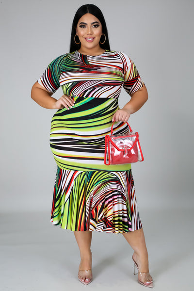 Maylene Midi Dress - EnChantes Closet Plus Size Boutique