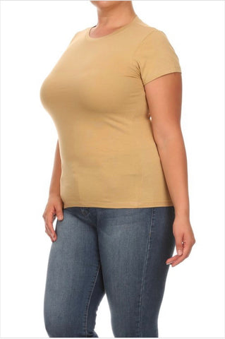 Brown Sugar Tee - EnChantes Closet Plus Size Boutique