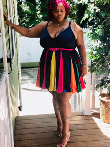 Eleganza Skater Dress - EnChantes Closet Plus Size Boutique