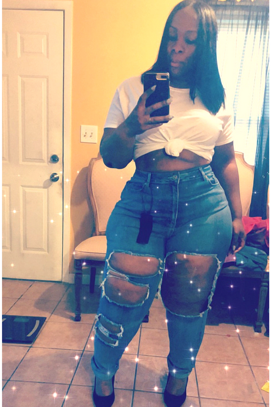 """CEO"" High Waist Boyfriend Jeans Plus - EnChantes Closet Plus Size Boutique"