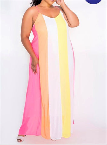 Starburst Maxi Dress - EnChantes Closet Plus Size Boutique